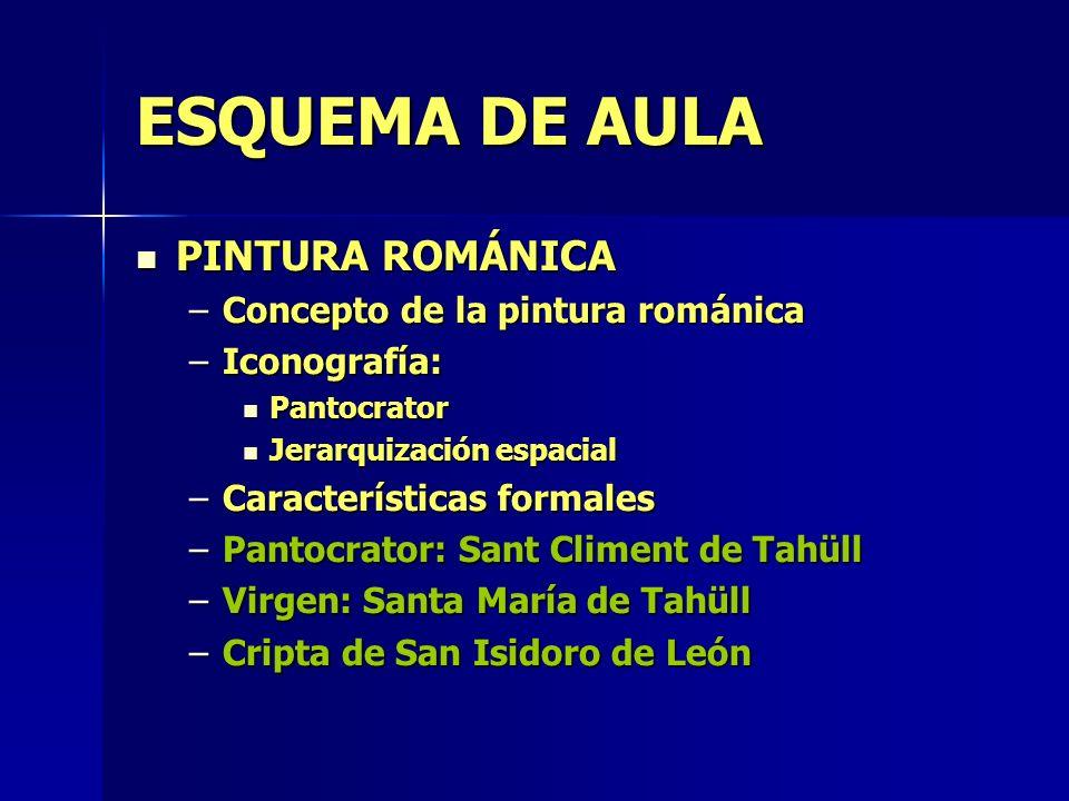 ESQUEMA DE AULA PINTURA ROMÁNICA Concepto de la pintura románica