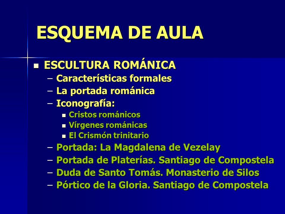 ESQUEMA DE AULA ESCULTURA ROMÁNICA Características formales