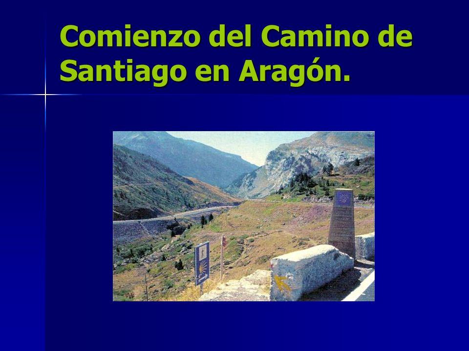 Comienzo del Camino de Santiago en Aragón.