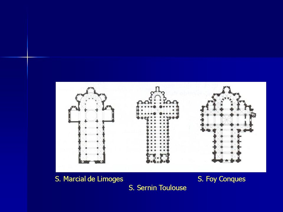 S. Marcial de Limoges S. Foy Conques S. Sernin Toulouse