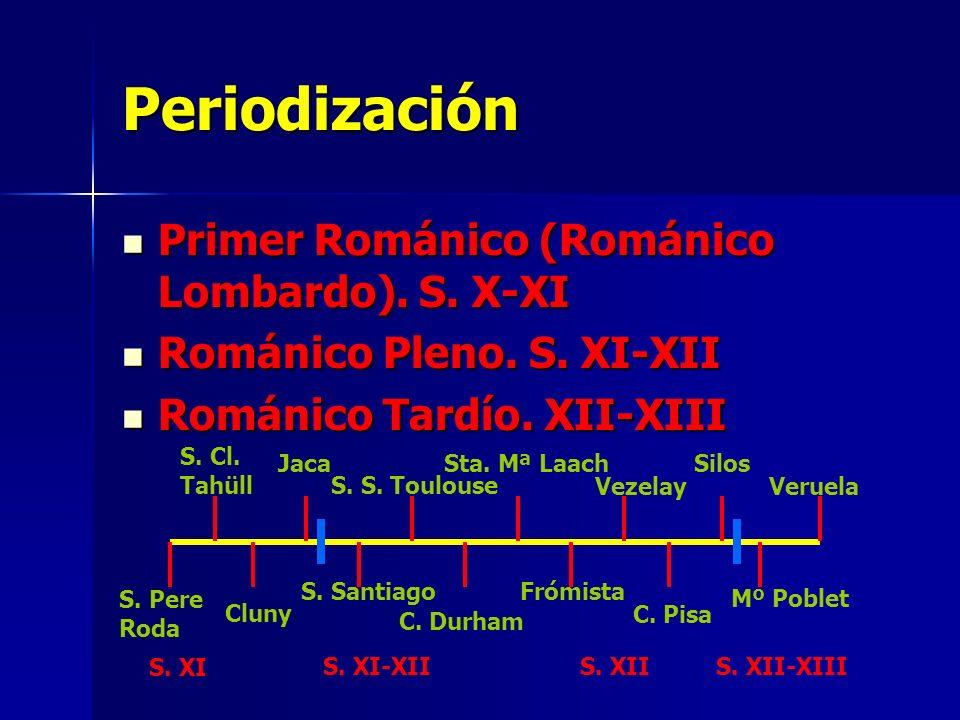 Periodización Primer Románico (Románico Lombardo). S. X-XI