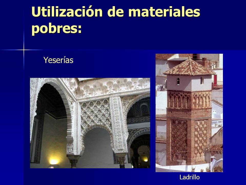 Utilización de materiales pobres: