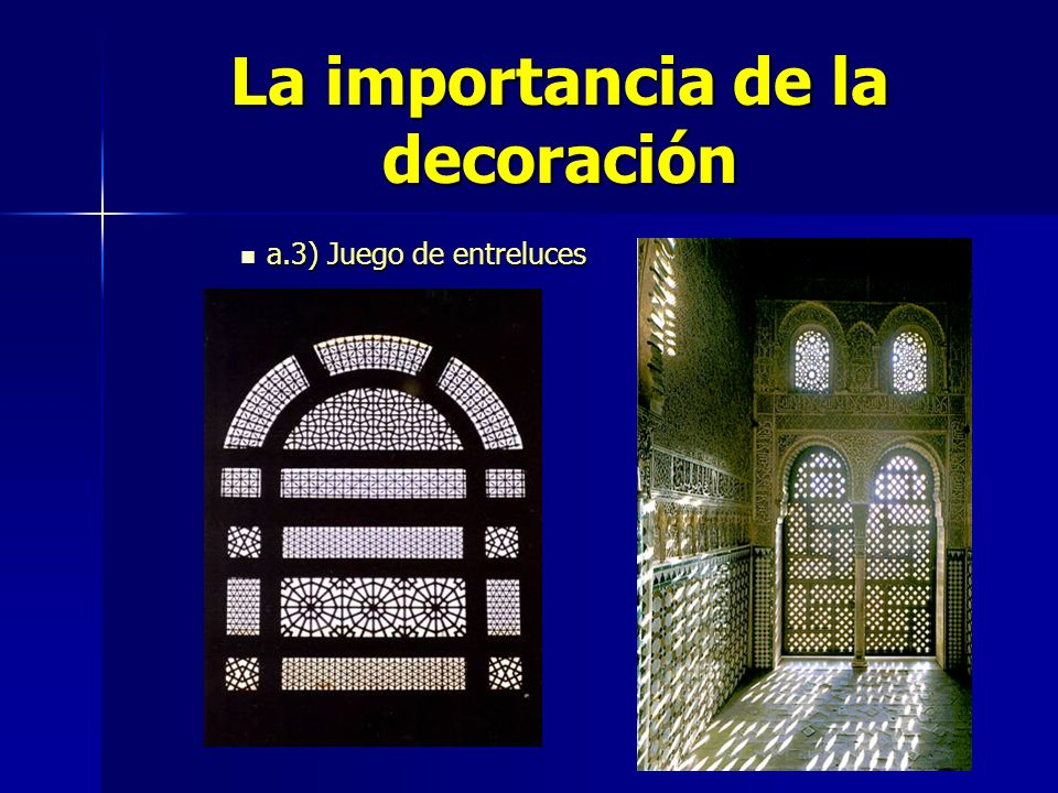 La importancia de la decoración