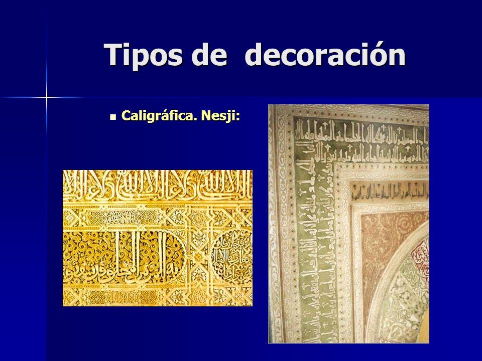 Tipos de decoración Caligráfica. Nesji: