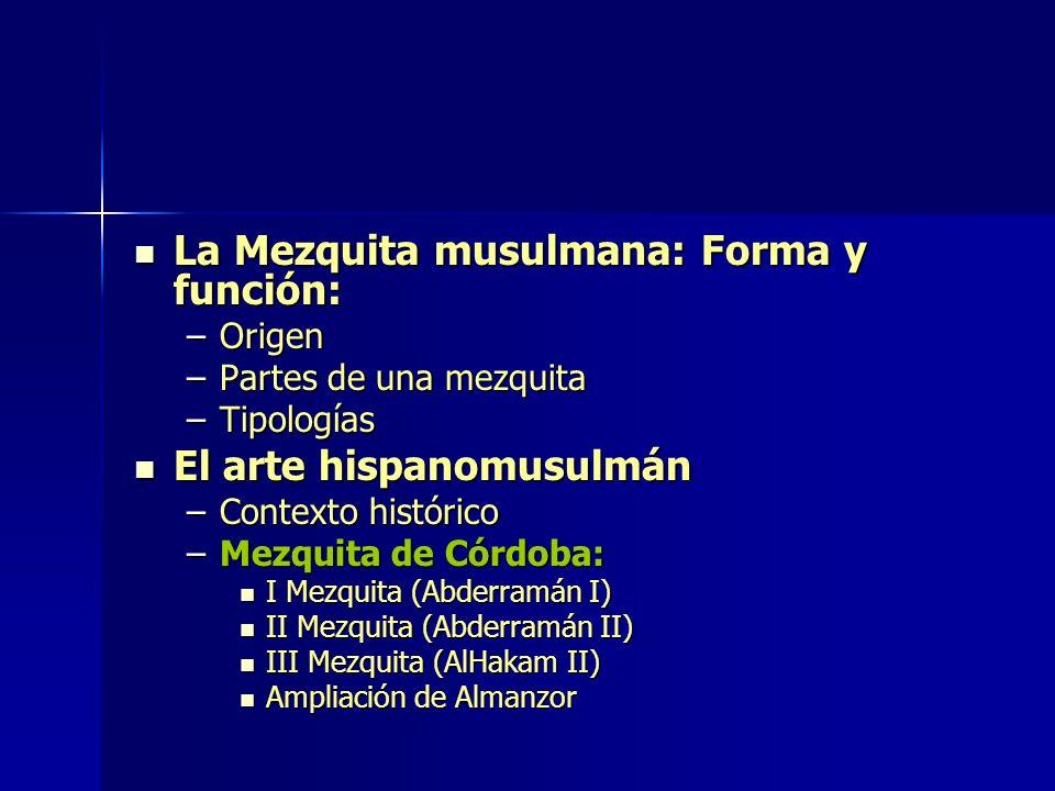 La Mezquita musulmana: Forma y función: