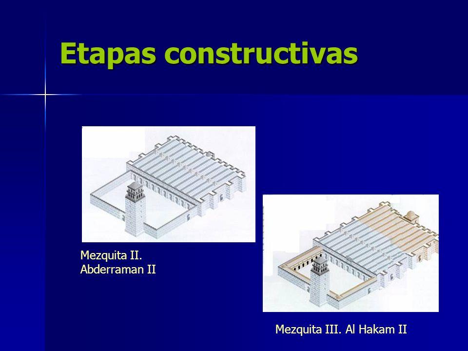 Etapas constructivas Mezquita II. Abderraman II