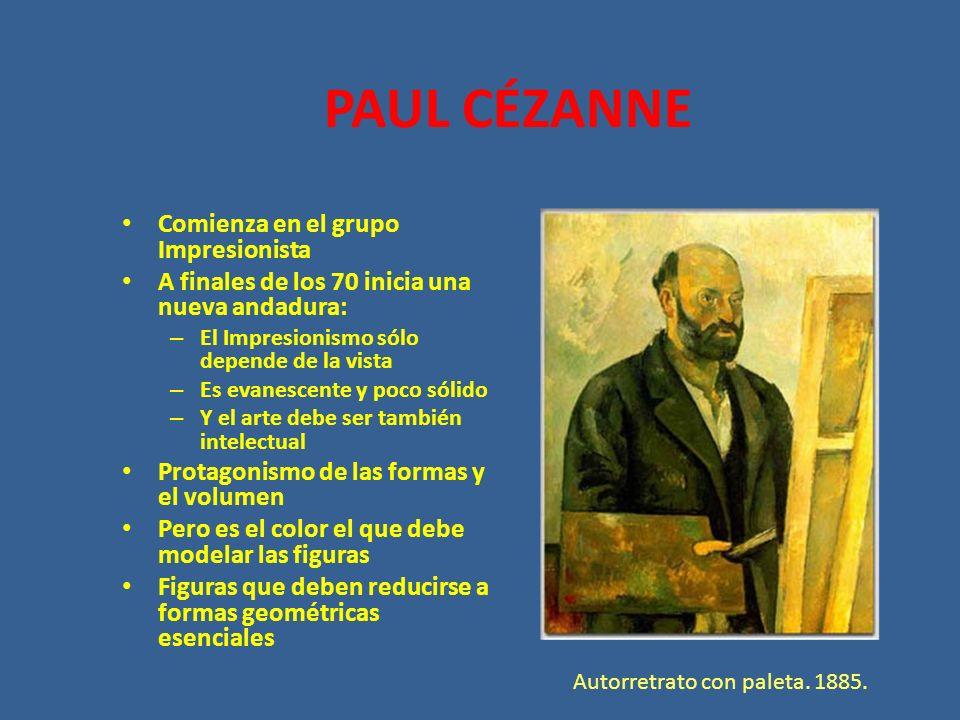PAUL CÉZANNE Comienza en el grupo Impresionista