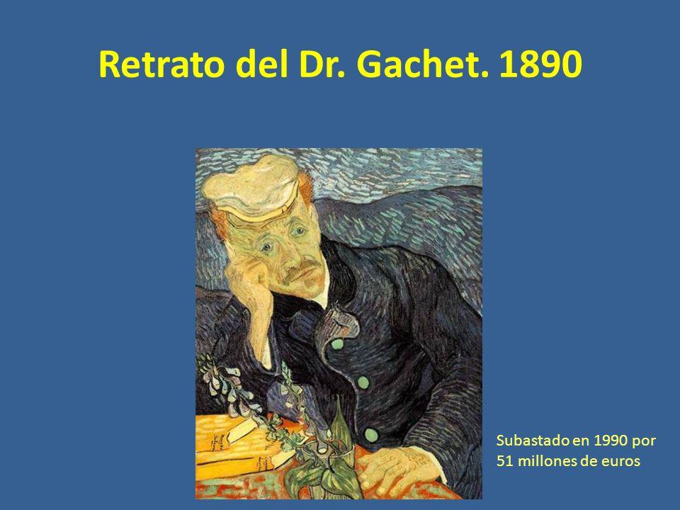 Retrato del Dr. Gachet. 1890 Subastado en 1990 por 51 millones de euros