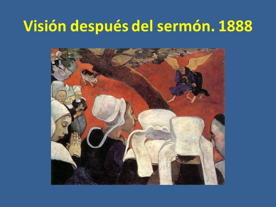 Visión después del sermón. 1888
