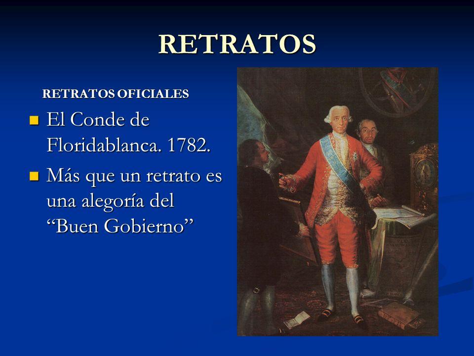 RETRATOS El Conde de Floridablanca. 1782.