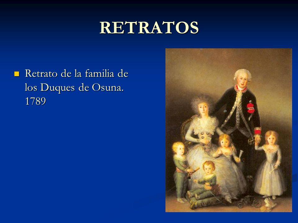 RETRATOS Retrato de la familia de los Duques de Osuna. 1789