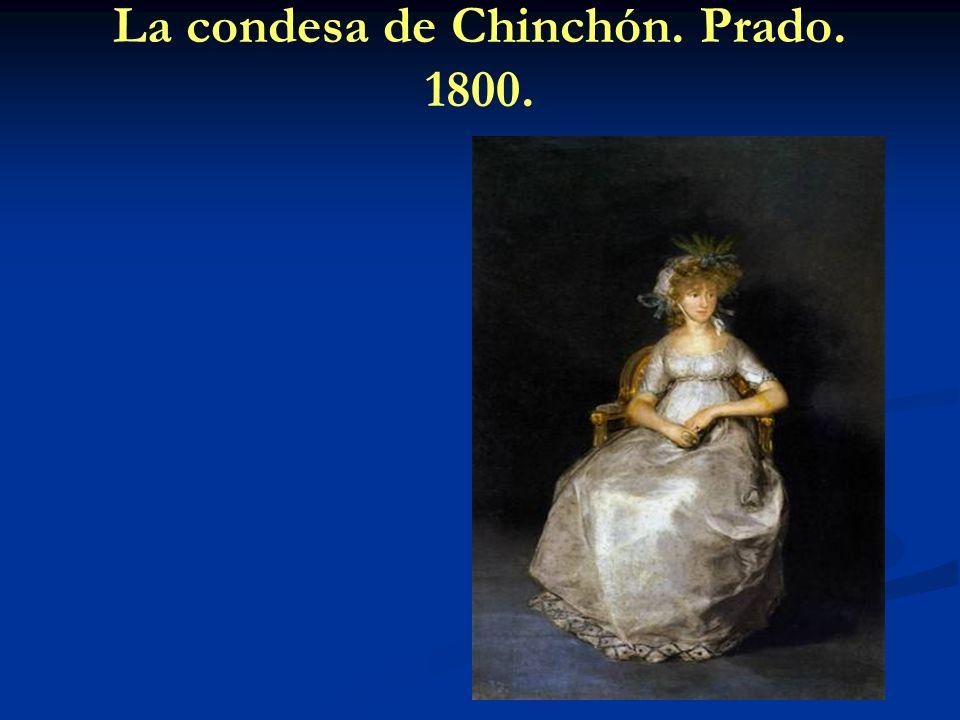 La condesa de Chinchón. Prado. 1800.