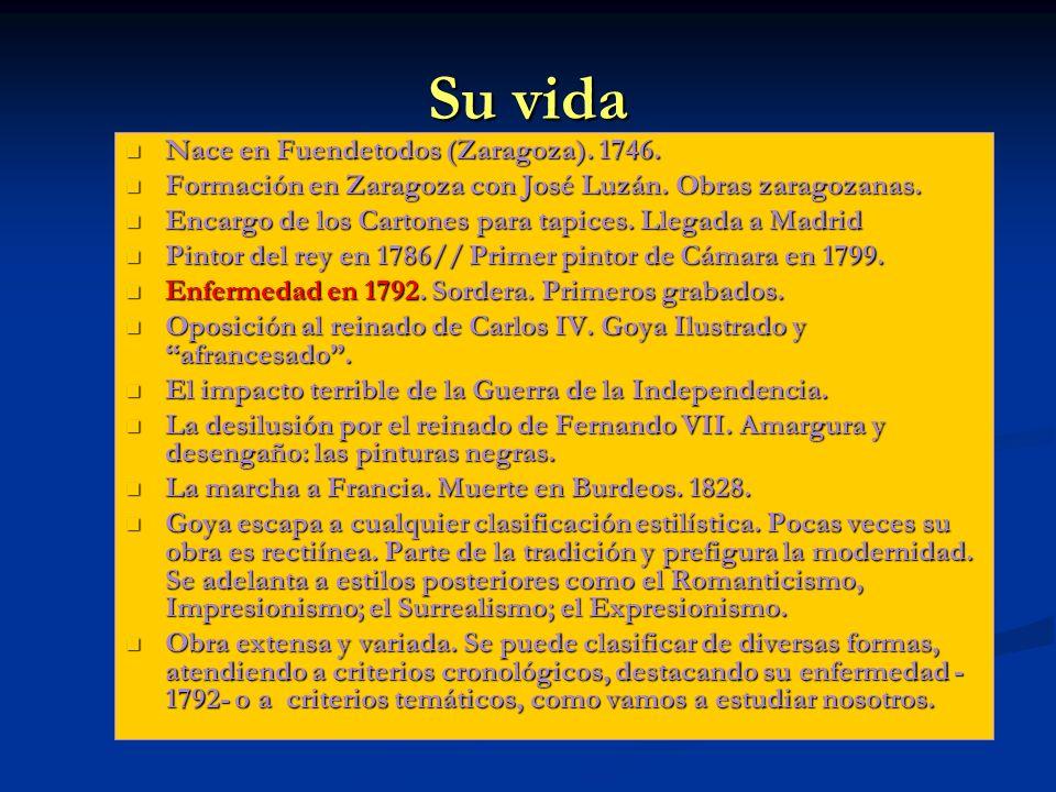 Su vida Nace en Fuendetodos (Zaragoza). 1746.