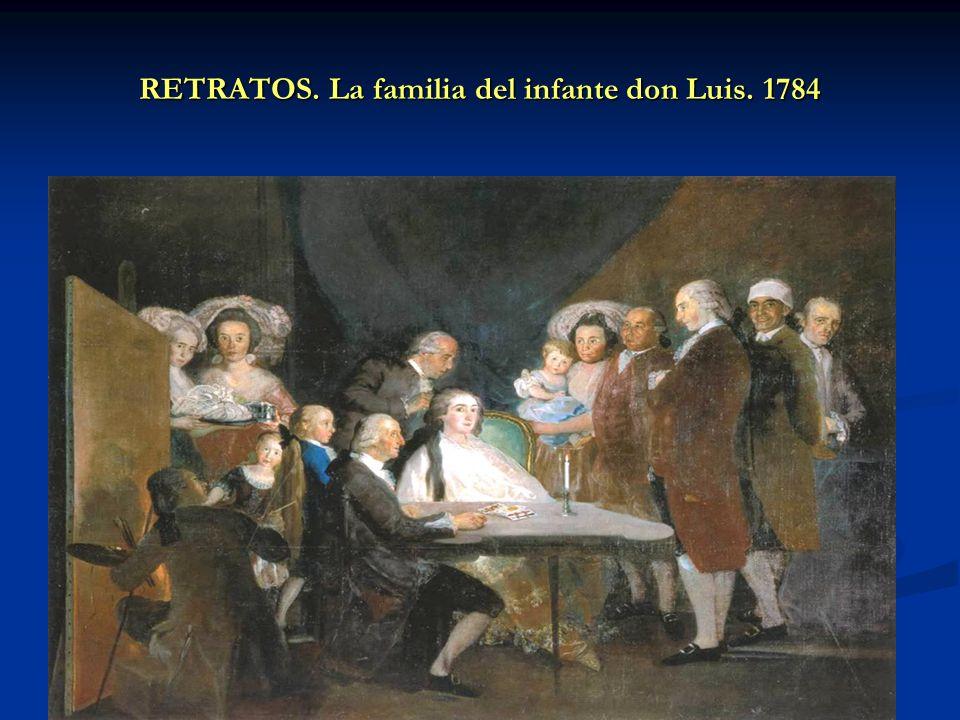 RETRATOS. La familia del infante don Luis. 1784