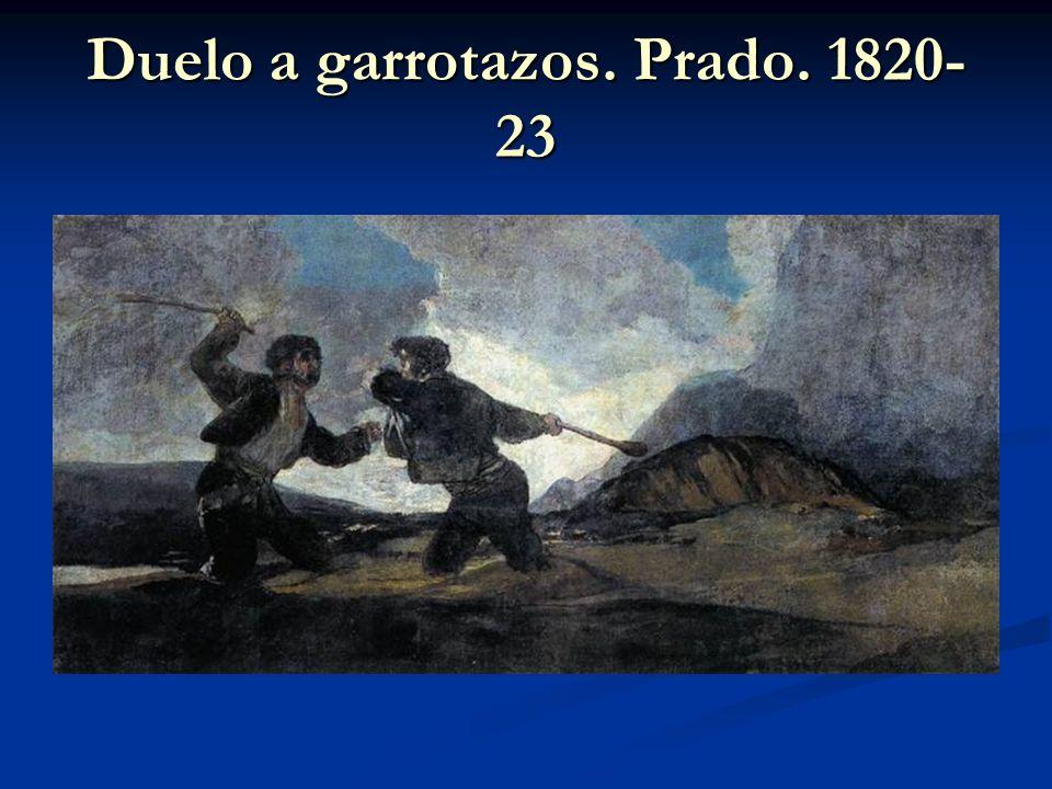 Duelo a garrotazos. Prado. 1820-23