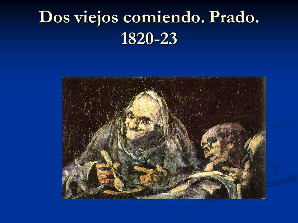 Dos viejos comiendo. Prado. 1820-23