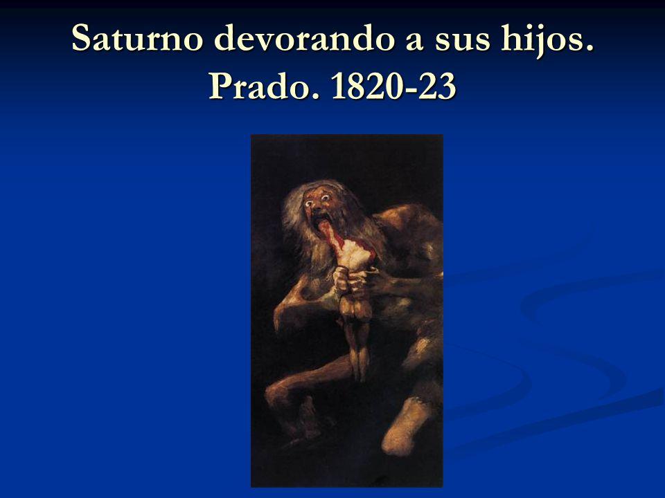 Saturno devorando a sus hijos. Prado. 1820-23