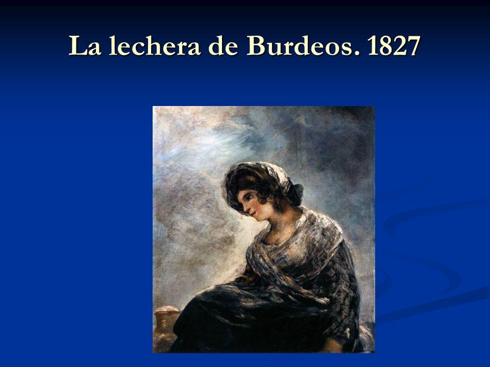 La lechera de Burdeos. 1827