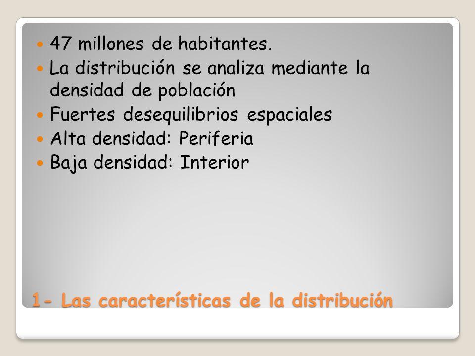 1- Las características de la distribución