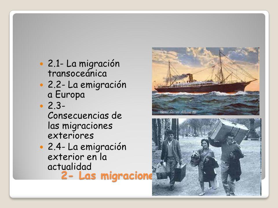 2- Las migraciones exteriores
