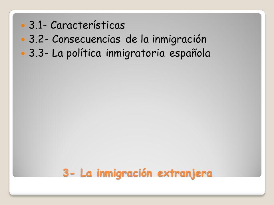 3- La inmigración extranjera