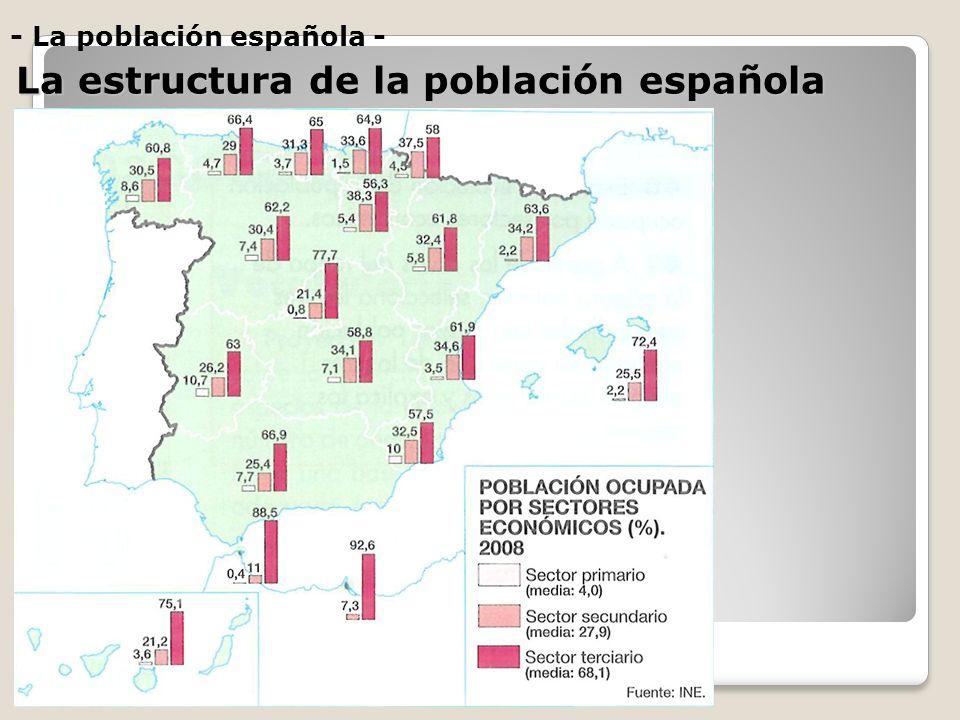 La estructura de la población española