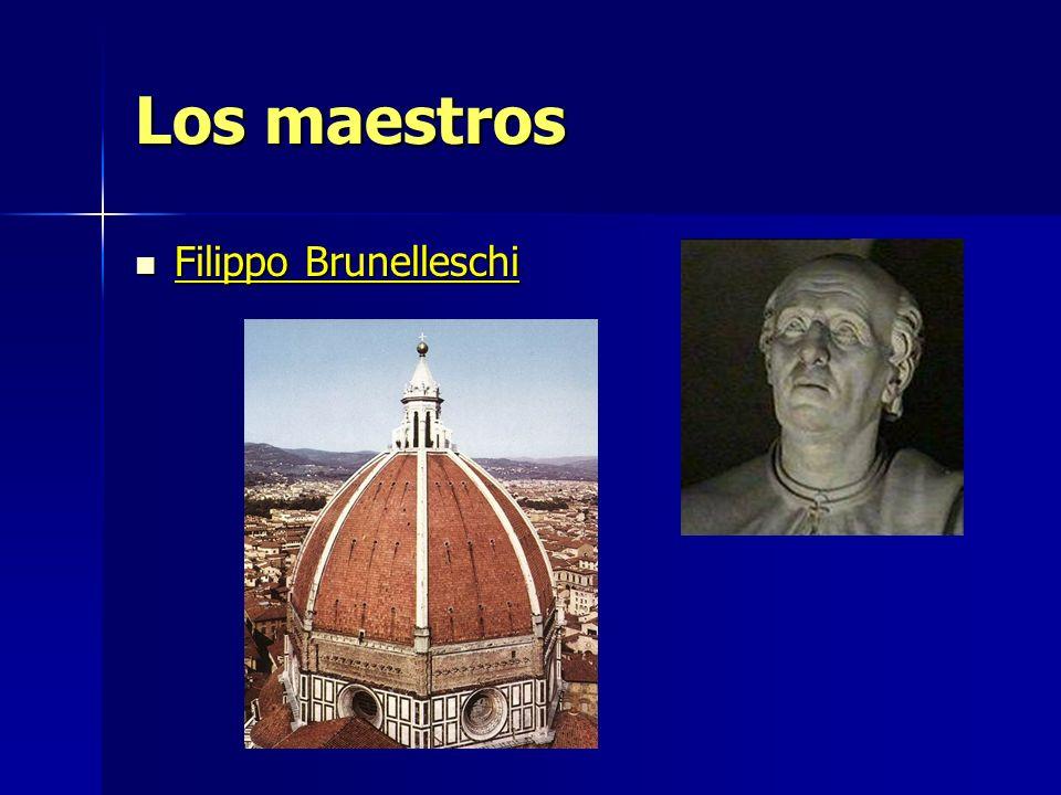 Los maestros Filippo Brunelleschi