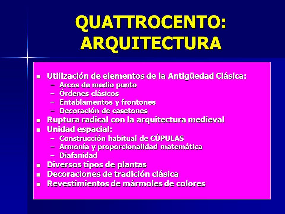 QUATTROCENTO: ARQUITECTURA