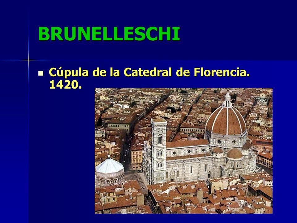 BRUNELLESCHI Cúpula de la Catedral de Florencia. 1420.