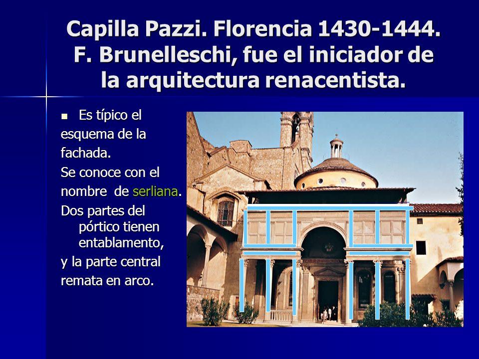 Capilla Pazzi. Florencia 1430-1444. F