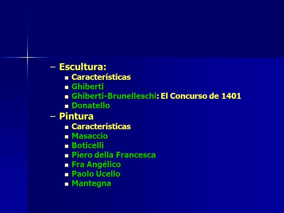 Escultura: Pintura Características Ghiberti