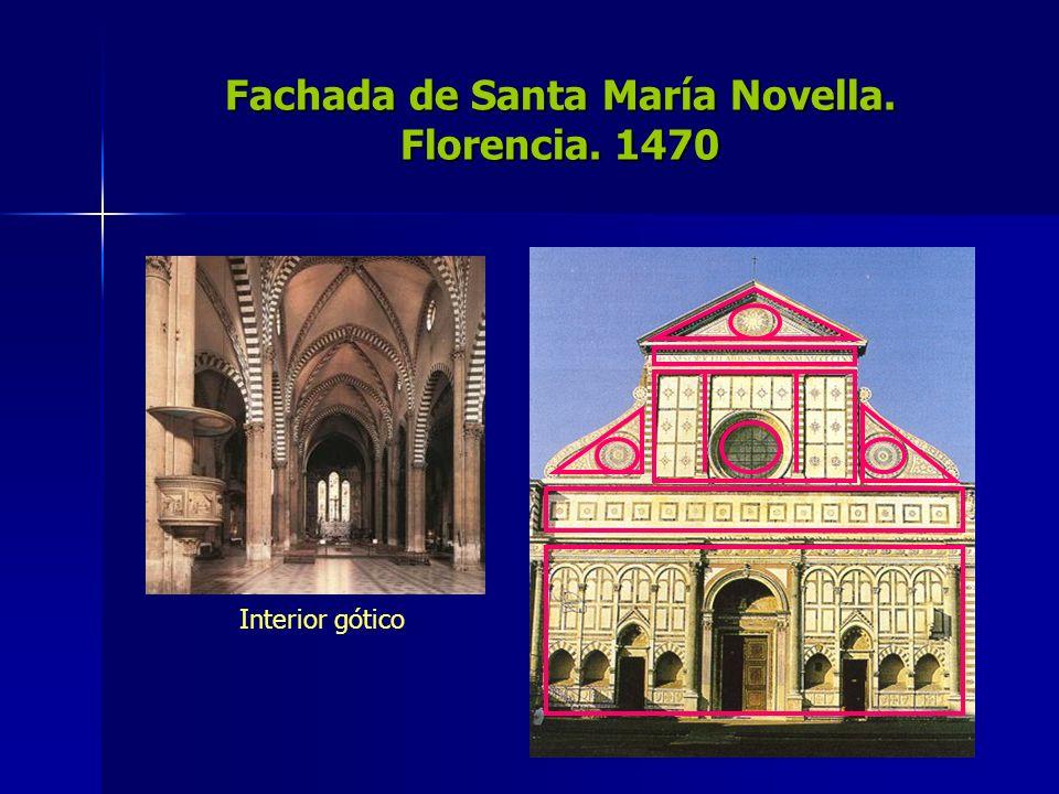 Fachada de Santa María Novella. Florencia. 1470