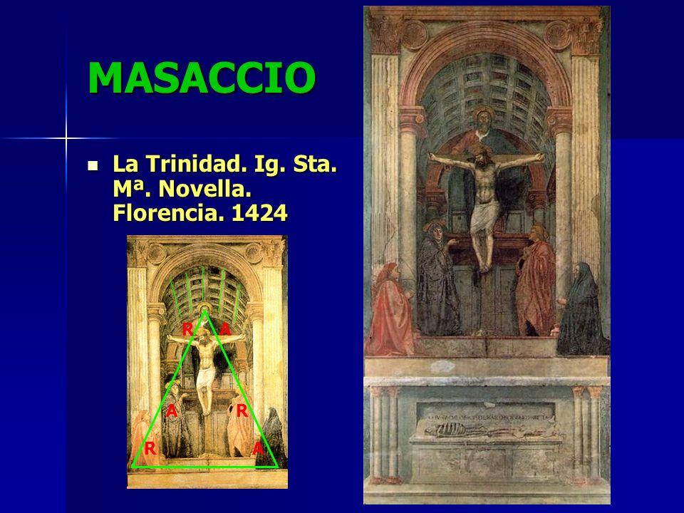 MASACCIO La Trinidad. Ig. Sta. Mª. Novella. Florencia. 1424 R A A R R