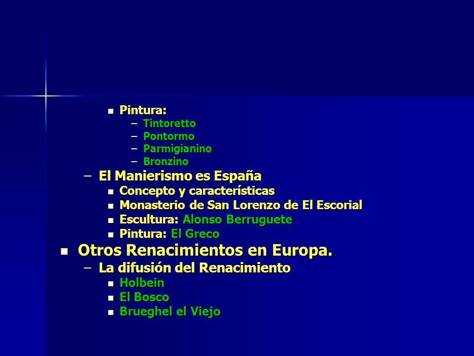Otros Renacimientos en Europa.