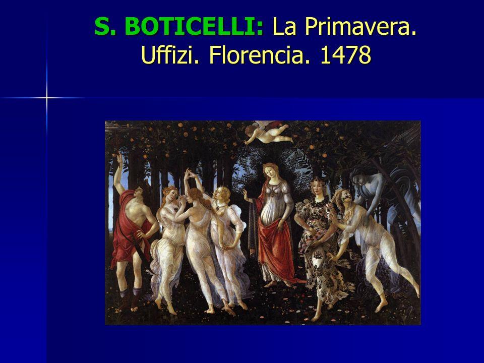 S. BOTICELLI: La Primavera. Uffizi. Florencia. 1478