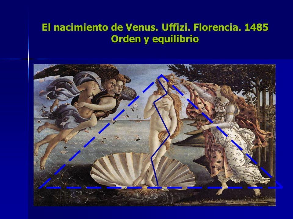 El nacimiento de Venus. Uffizi. Florencia. 1485 Orden y equilibrio