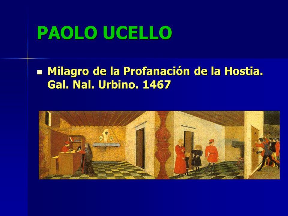 PAOLO UCELLO Milagro de la Profanación de la Hostia. Gal. Nal. Urbino. 1467