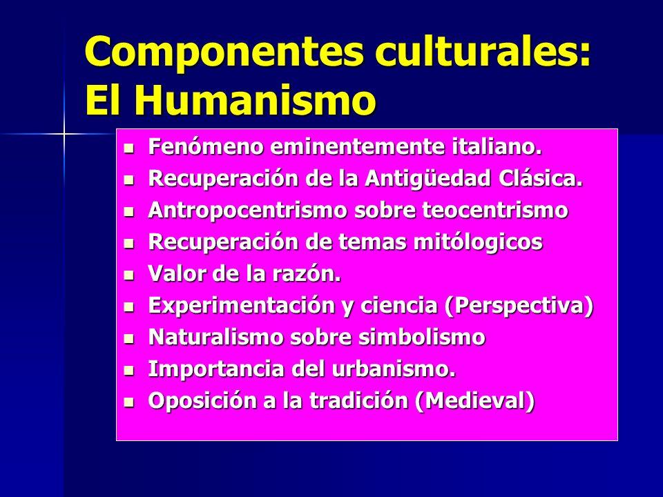 Componentes culturales: El Humanismo