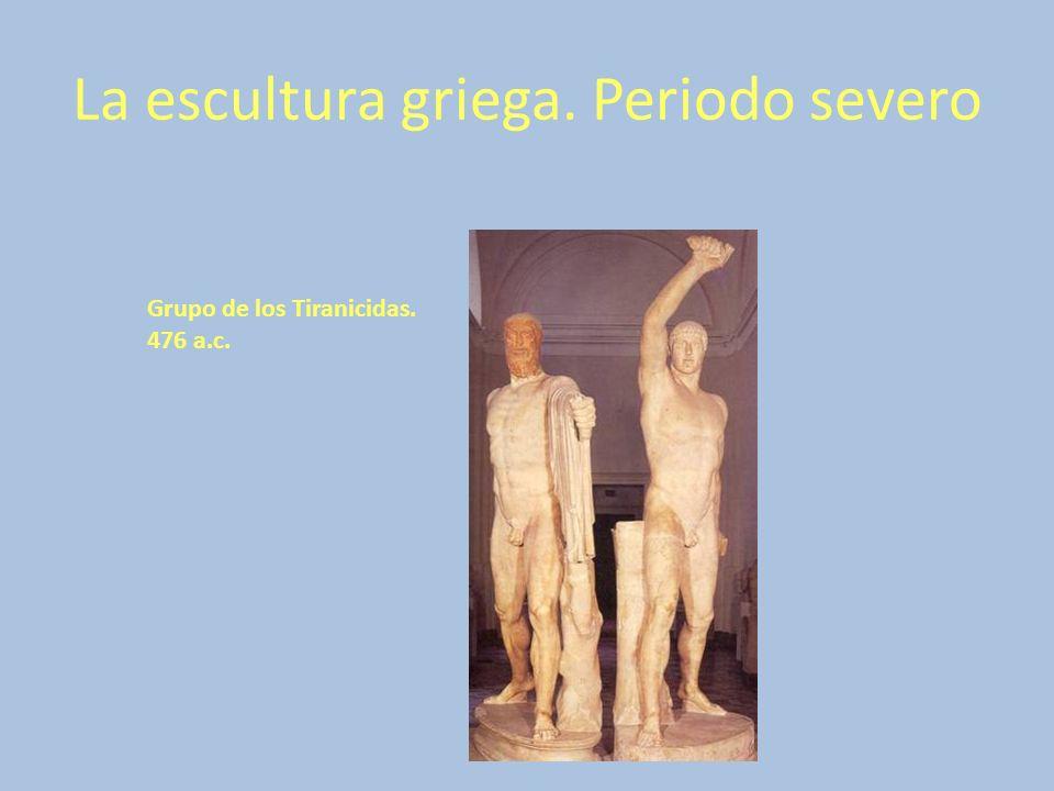 La escultura griega. Periodo severo