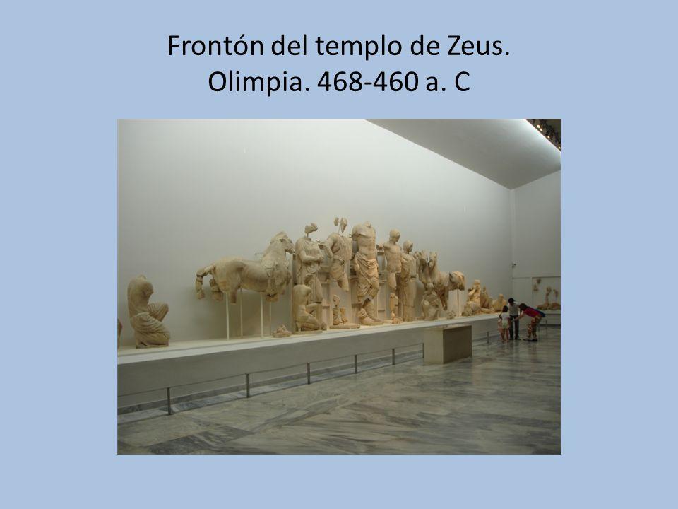 Frontón del templo de Zeus. Olimpia. 468-460 a. C