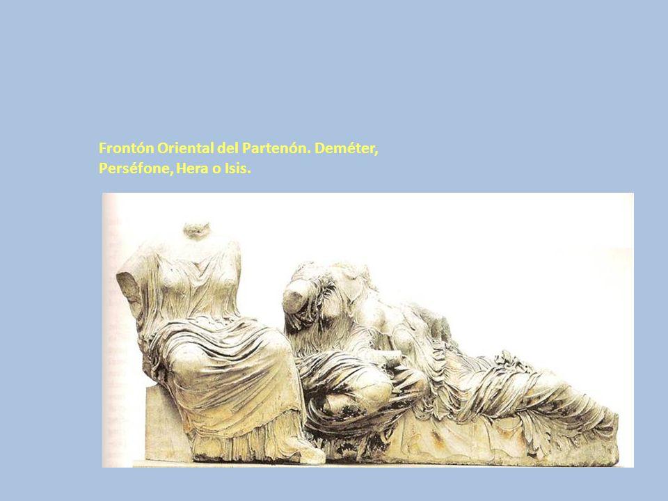 Frontón Oriental del Partenón. Deméter, Perséfone, Hera o Isis.