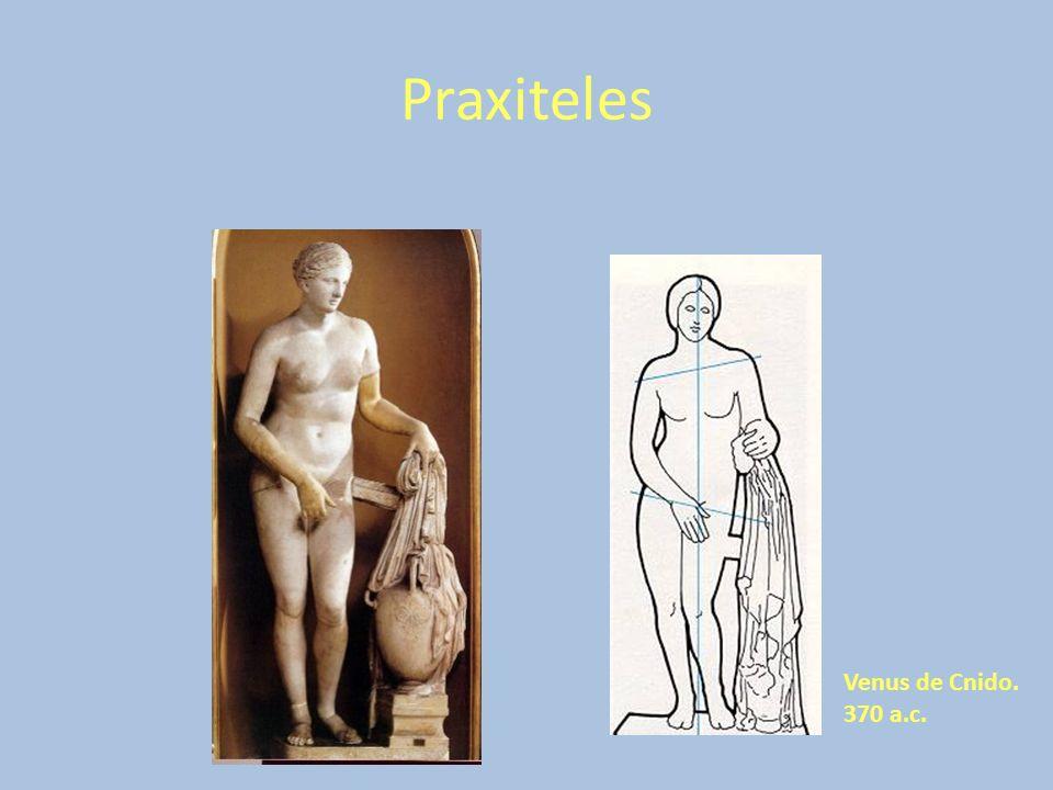 Praxiteles Venus de Cnido. 370 a.c.