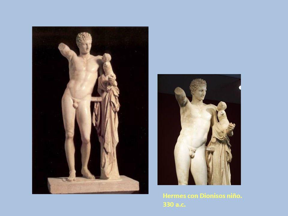 Hermes con Dionisos niño. 330 a.c.