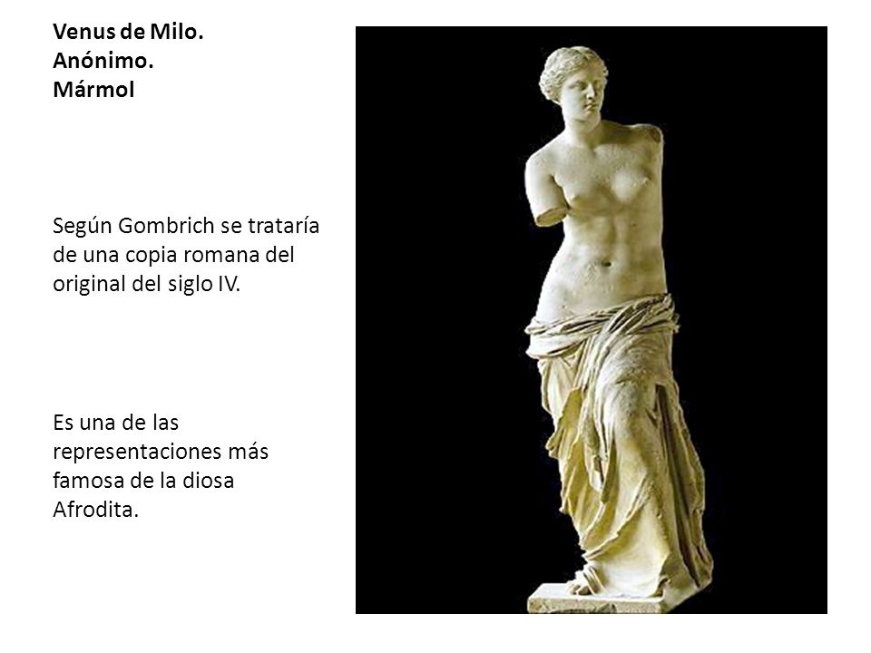 Venus de Milo. Anónimo. Mármol
