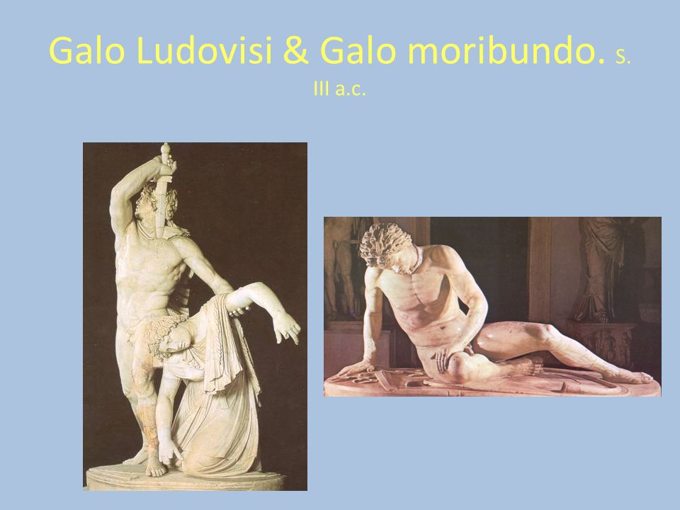 Galo Ludovisi & Galo moribundo. S. III a.c.
