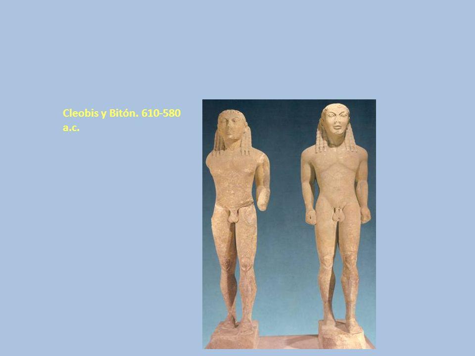 Cleobis y Bitón. 610-580 a.c.