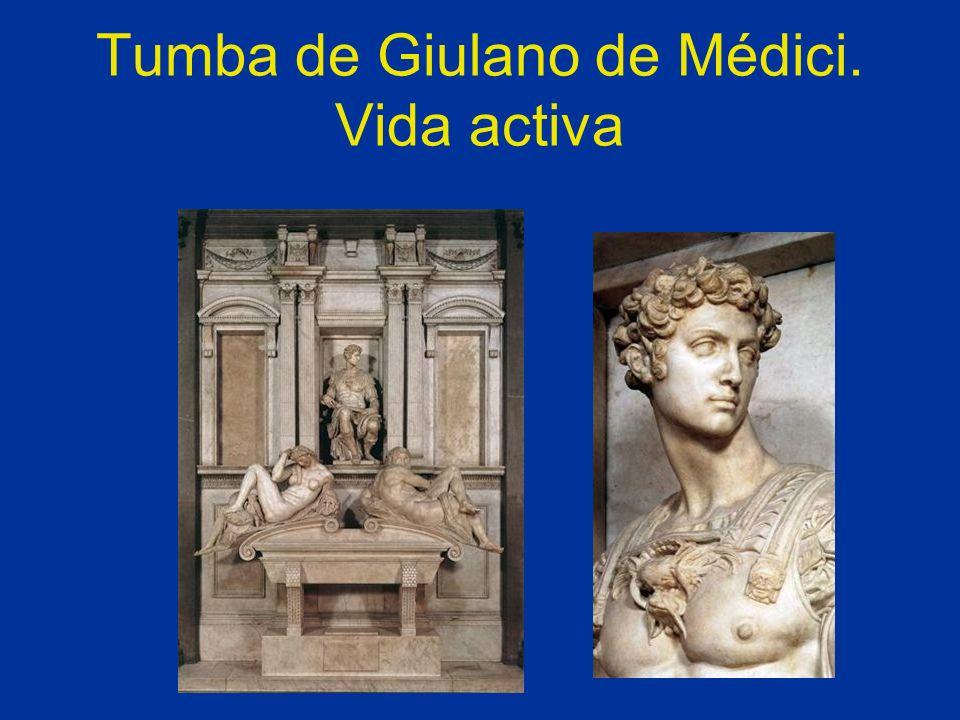 Tumba de Giulano de Médici. Vida activa