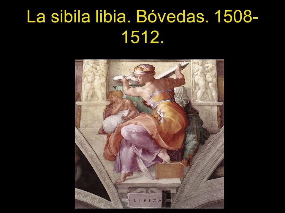 La sibila libia. Bóvedas. 1508-1512.