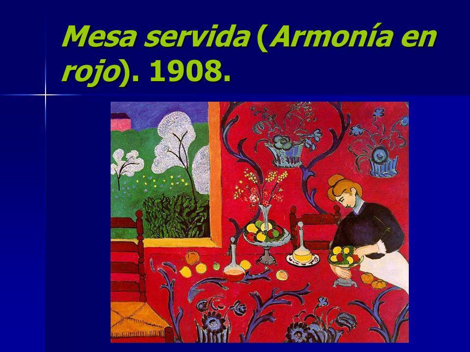 Mesa servida (Armonía en rojo). 1908.