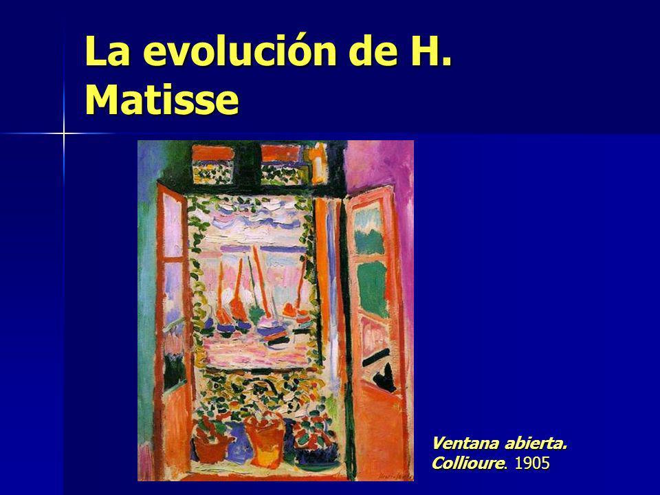 La evolución de H. Matisse